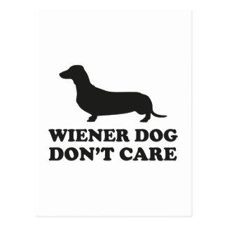 Cartão Postal O cão do Wiener não se importa