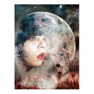 Cartão Postal O cheio Wolfs a ascensão da lua