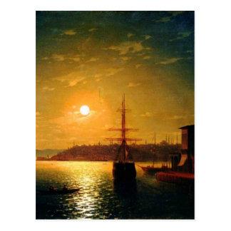 Cartão Postal O chifre dourado da baía por Ivan Aivazovsky