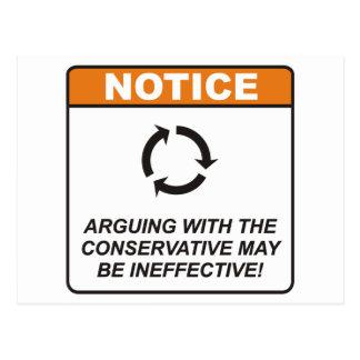 Cartão Postal O conservador/discute
