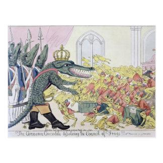 Cartão Postal O crocodilo corso