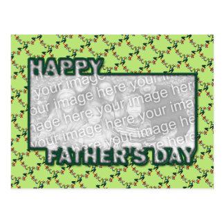 Cartão Postal O dia dos pais cortado ADICIONA SEUS sapos da FOTO