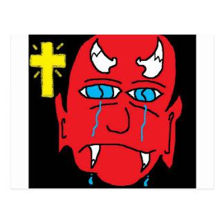 Cartão Postal o diabo falta o céu