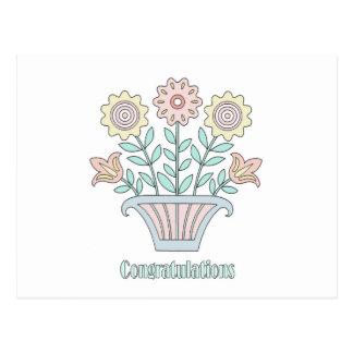 Cartão Postal O doce floresce parabéns