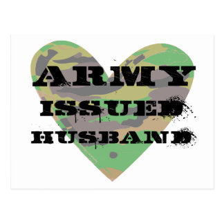 Cartão Postal O exército emitiu o marido
