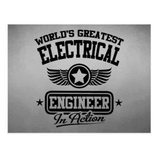 Cartão Postal O grande engenheiro electrotécnico do mundo na