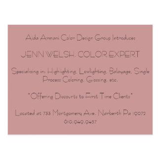 Cartão Postal O grupo do design da cor de Aida Armani introduz