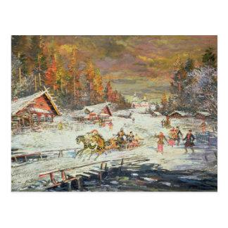 Cartão Postal O inverno do russo, 1900-10