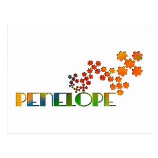 Cartão Postal O jogo conhecido - Penélope
