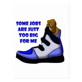Cartão Postal O lebreiro dos desenhos animados em calçados