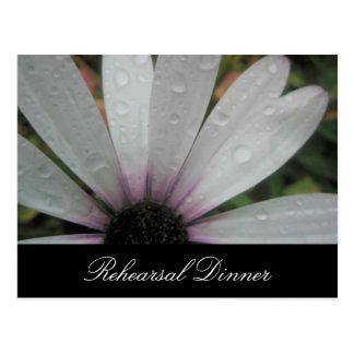 Cartão Postal O Lilac ilumina a margarida do casamento