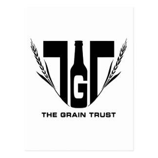 Cartão Postal O logotipo da confiança da grão - quadrado - preto
