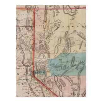 Cartão Postal O mapa de DeGroot do território de Nevada