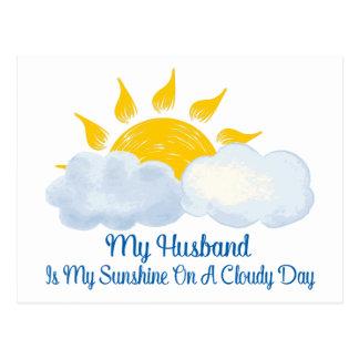 Cartão Postal O marido é minha luz do sol