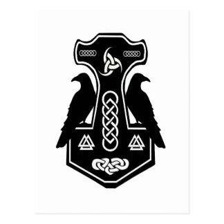 Cartão Postal O martelo do Thor celta pagão dos noruegueses