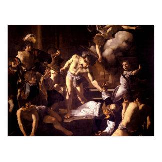 Cartão Postal O martírio de St Matthew por Caravaggio 1600