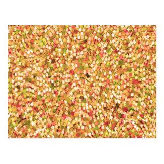Cartão Postal O modelo artístico DIY dos confetes adiciona
