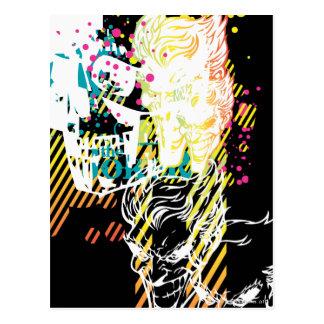 Cartão Postal O montagem do néon do palhaço