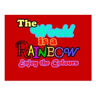 Cartão Postal O mundo é um arco-íris, aprecia as cores