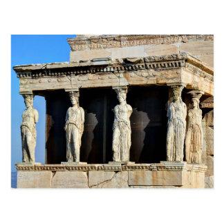 Cartão Postal O patamar da cariátide do Erechtheion em Atenas