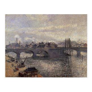 Cartão Postal O Pont Corneille, Rouen, efeito da manhã por Camil