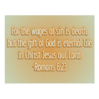 Cartão Postal O presente do deus é vida eterna