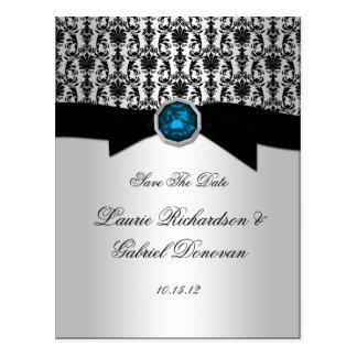 Cartão Postal O preto e a jóia azul do topázio da prata salvar a