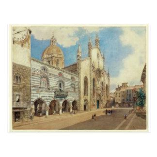 Cartão Postal O quadrado da catedral em Como por Rudolf von Alt