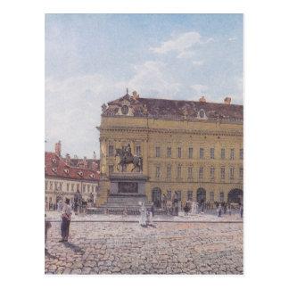 Cartão Postal O quadrado de Josef em Viena por Rudolf von Alt