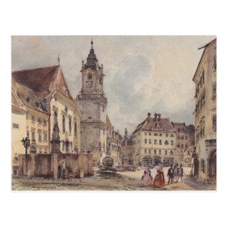 Cartão Postal O quadrado principal em Bratislava por Rudolf von