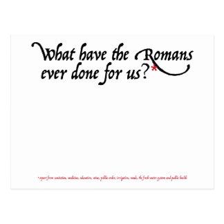 Cartão Postal O que têm os romanos feitos nunca para nós