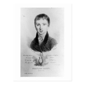 Cartão Postal O retrato de Franz Liszt (1811-86) envelheceu 11