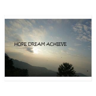 Cartão Postal o sonho da esperança consegue