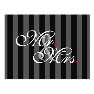 Cartão Postal O Sr. e a Sra. Marido Esposa Seu Dela Weds