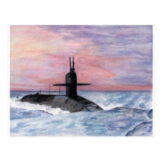 Cartão Postal O submarino da classe de Ohio