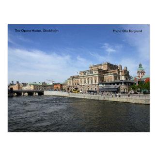 Cartão Postal O teatro da ópera, Éstocolmo, Phot…