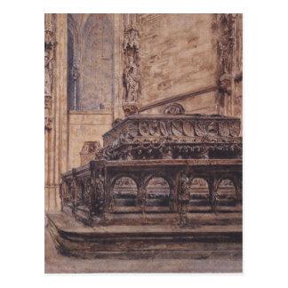 Cartão Postal O túmulo do imperador Frederick III no Stephansd