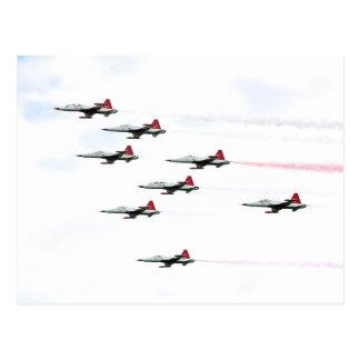 Cartão Postal O turco Stars a equipe Aerobatic