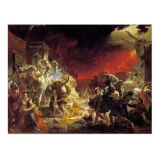 Cartão Postal O último dia de Pompeii