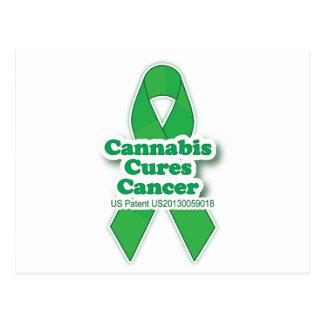 Cartão Postal O verde cura a consciência do cancer