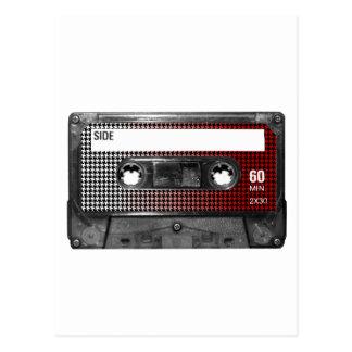 Cartão Postal O vermelho desvanece-se gaveta da etiqueta de