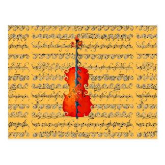 Cartão Postal O violoncelo & eu balançamos! _