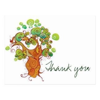 Cartão Postal Obrigado árvore