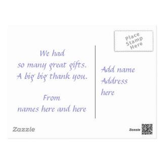 Cartão Postal Obrigado civil da cerimónia você flores