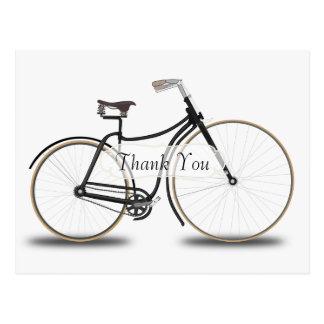 Cartão Postal Obrigado da bicicleta do vintage você