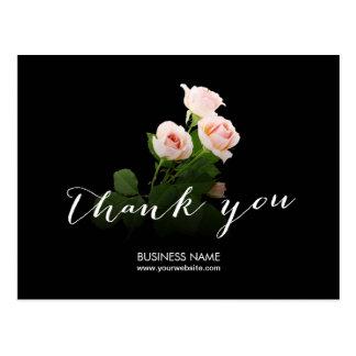 Cartão Postal Obrigado elegante do negócio da caligrafia dos