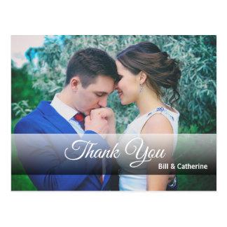 Cartão Postal Obrigado personalizado você com foto completa