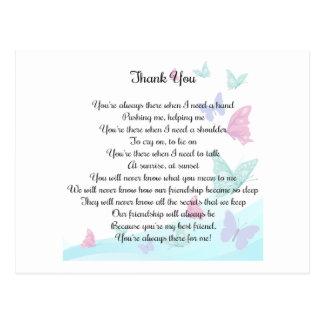 Cartão Postal Obrigado poema