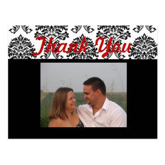 Cartão Postal Obrigado vermelho você