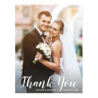 Cartão Postal Obrigado Wedding você ocasional moderno do
